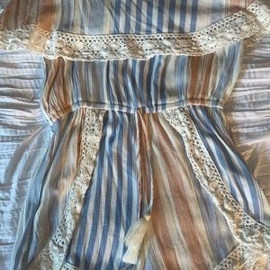 Ocean Drive Other - Striped Romper! Only worn once!
